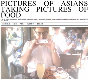 Pictures of Asians taking pictures of food