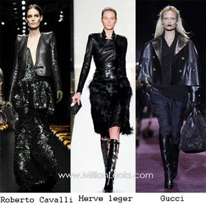 Black Leather - Hottest Fall Trend 2012