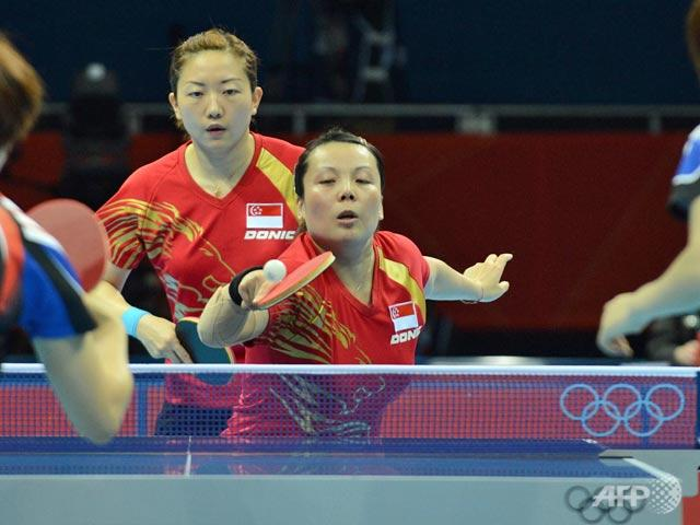London 2012: S'pore's China-born paddlers win team bronze