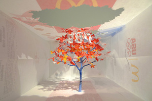 Intricate Tree Cut from Mcdonald's Paper Bag by Yuken Teruya