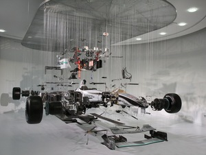 Incredibly Amazing Suspended Deconstruction Of An F1 Car