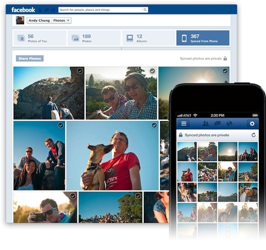 Facebook gives automatic Photo Syncing