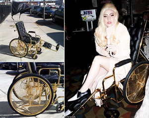 Lady Gaga's 24K Gold Wheelchair. Heart It Or Hate It?