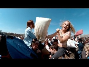 Pillow Fight Day 2013: Pics, Videos of Adults and Kids Beating Each Other
