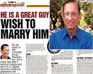 69 Year-Old Millionaire's Full Page Ad Seeks Wife Slim And Under 40
