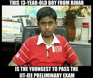 13-Year-Old Bihar Boy Cracks IIT-JEE Prelim Exam