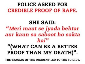 SHOCKING: Woman Asked to Prove Rape, Commits Suicide