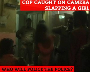 Cop Caught on Camera Slapping a Girl Inside a Police Station