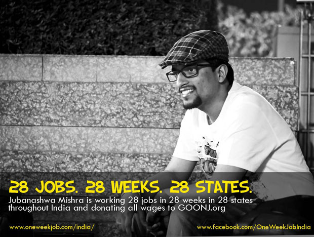 The Man Who Is On A Mission To Do 28 Jobs In 28 Weeks Across India